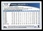2013 Topps #516  Omar Infante  Back Thumbnail