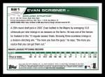 2013 Topps #521  Evan Scribner  Back Thumbnail
