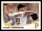 2013 Topps #523  Wandy Rodriguez  Front Thumbnail
