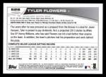 2013 Topps #526  Tyler Flowers  Back Thumbnail