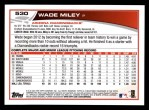 2013 Topps #530  Wade Miley  Back Thumbnail