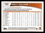 2013 Topps #538  Brett Wallace  Back Thumbnail