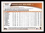 2013 Topps #543  Donovan Solano  Back Thumbnail