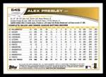 2013 Topps #545  Alex Presley  Back Thumbnail