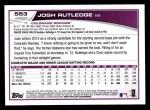2013 Topps #553  Josh Rutledge  Back Thumbnail