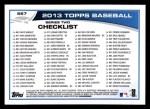 2013 Topps #567  Alfonso Soriano  Back Thumbnail
