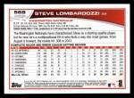 2013 Topps #568  Steve Lombardozzi  Back Thumbnail