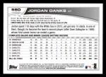 2013 Topps #580  Jordan Danks  Back Thumbnail