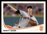 2013 Topps #587  Matt Cain  Front Thumbnail