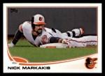2013 Topps #592  Nick Markakis  Front Thumbnail