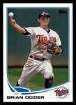 2013 Topps #596  Brian Dozier  Front Thumbnail