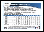2013 Topps #602  Anibal Sanchez  Back Thumbnail