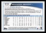 2013 Topps #610  Brandon Beachy  Back Thumbnail