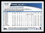 2013 Topps #615  Mark Ellis  Back Thumbnail