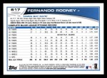 2013 Topps #617  Fernando Rodney  Back Thumbnail