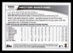 2013 Topps #620  Hector Santiago  Back Thumbnail