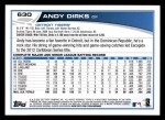 2013 Topps #630  Andy Dirks  Back Thumbnail