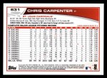 2013 Topps #631  Chris Carpenter  Back Thumbnail