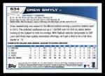 2013 Topps #634  Drew Smyly  Back Thumbnail