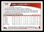 2013 Topps #639  Josh Hamilton  Back Thumbnail