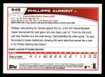 2013 Topps #646  Phillippe Aumont  Back Thumbnail