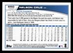 2013 Topps #650  Nelson Cruz  Back Thumbnail