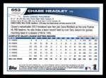 2013 Topps #653  Chase Headley  Back Thumbnail
