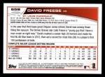 2013 Topps #658  David Freese  Back Thumbnail