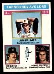 1976 Topps #202   -  Jim Palmer / Catfish Hunter / Dennis Eckersley AL ERA Leaders   Front Thumbnail