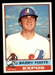 1976 Topps #42  Barry Foote  Front Thumbnail