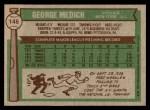 1976 Topps #146  Doc Medich  Back Thumbnail