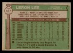 1976 Topps #487  Leron Lee  Back Thumbnail