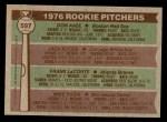 1976 Topps #597   -  Don Aase / Jack Kucek / Frank LaCorte / Mike Pazik Rookie Pitchers   Back Thumbnail