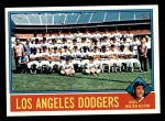 1976 Topps #46   -  Walter Alston Dodgers Team Checklist Front Thumbnail