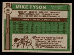 1976 Topps #86  Mike Tyson  Back Thumbnail