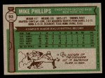1976 Topps #93  Mike Phillips  Back Thumbnail