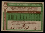 1976 Topps #480  Mike Schmidt  Back Thumbnail