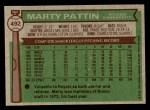 1976 Topps #492  Marty Pattin  Back Thumbnail