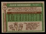 1976 Topps #496  Juan Beniquez  Back Thumbnail