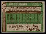 1976 Topps #521  Jim Colborn  Back Thumbnail