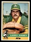 1976 Topps #446  Larry Haney  Front Thumbnail