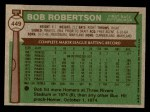 1976 Topps #449  Bob Robertson  Back Thumbnail