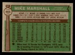 1976 Topps #465  Mike Marshall  Back Thumbnail