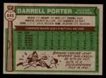 1976 Topps #645  Darrell Porter  Back Thumbnail