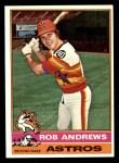 1976 Topps #568  Rob Andrews  Front Thumbnail