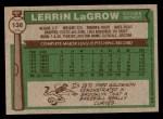 1976 Topps #138  Lerrin LaGrow  Back Thumbnail