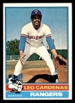 1976 Topps #587  Leo 'Chico' Cardenas  Front Thumbnail