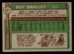 1976 Topps #657  Roy Smalley  Back Thumbnail