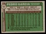 1976 Topps #187  Pedro Garcia  Back Thumbnail