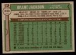 1976 Topps #233  Grant Jackson  Back Thumbnail